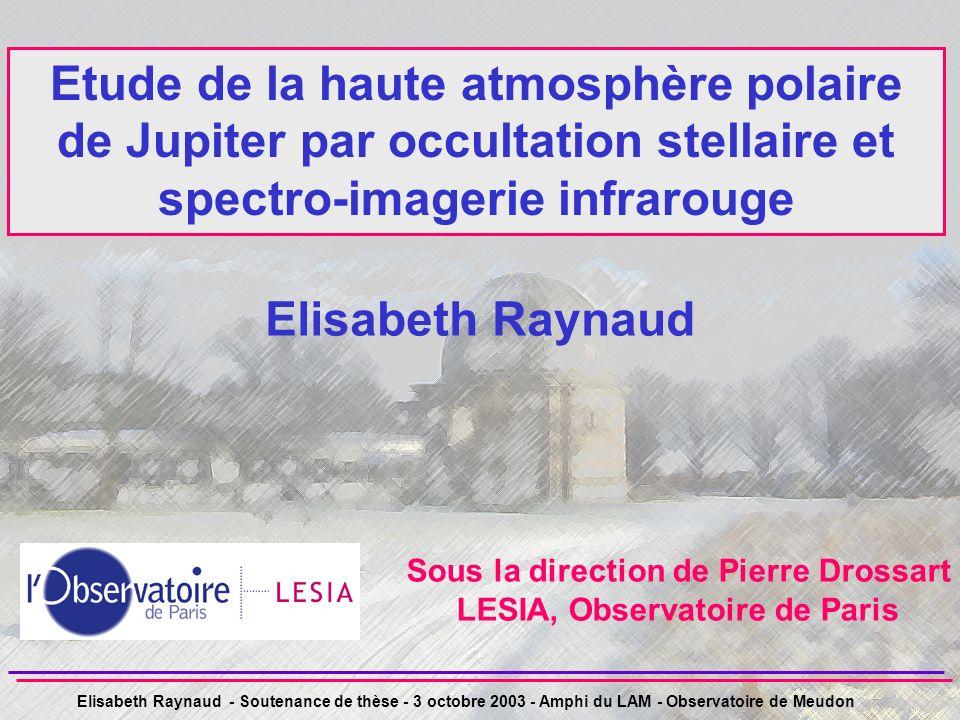 Sous la direction de Pierre Drossart LESIA, Observatoire de Paris