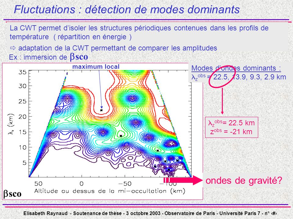 Fluctuations : détection de modes dominants