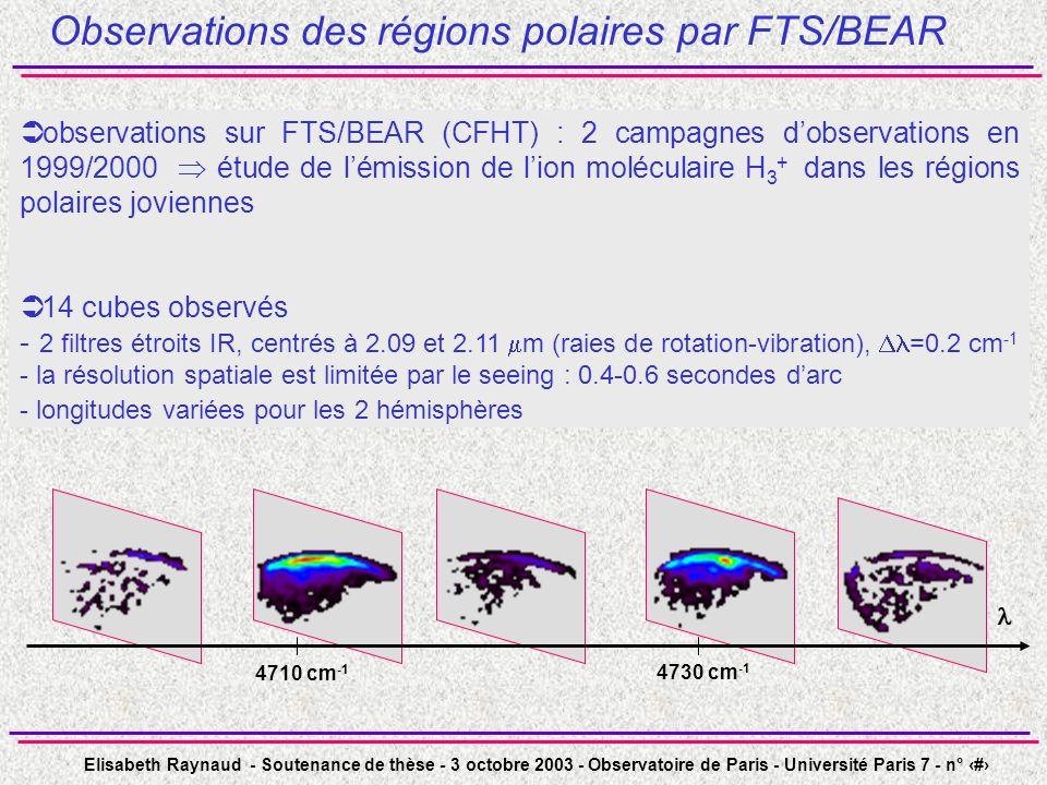 Observations des régions polaires par FTS/BEAR