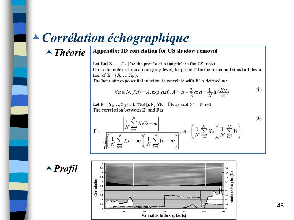 Corrélation échographique