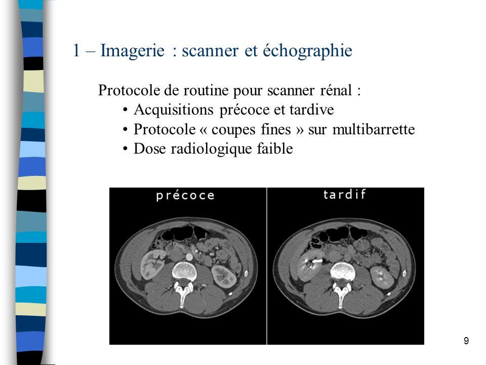 1 – Imagerie : scanner et échographie