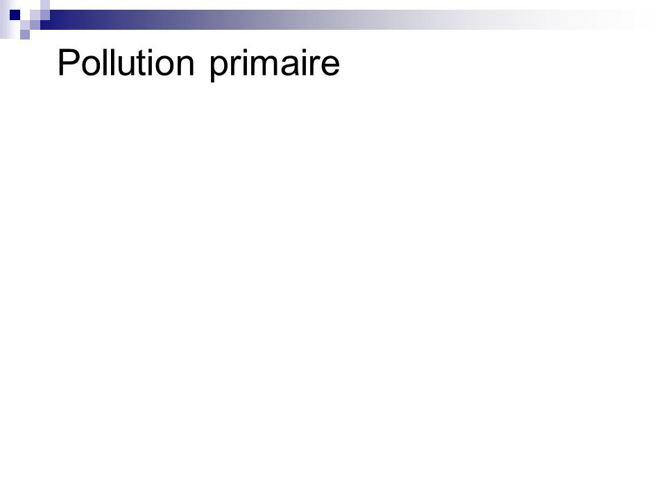 Pollution primaire