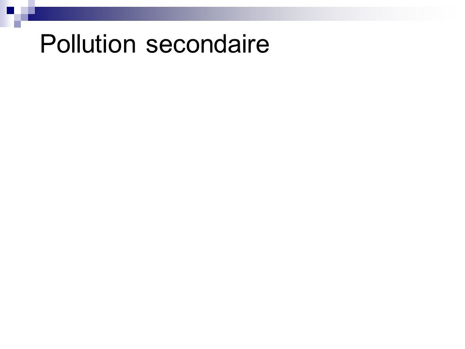 Pollution secondaire