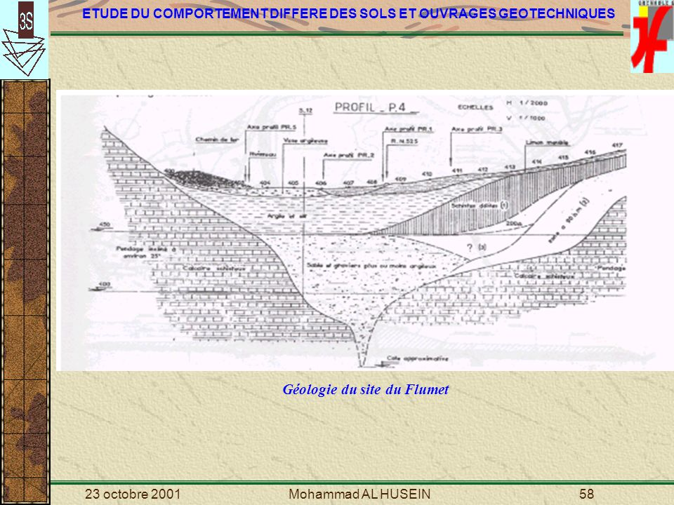 Géologie du site du Flumet