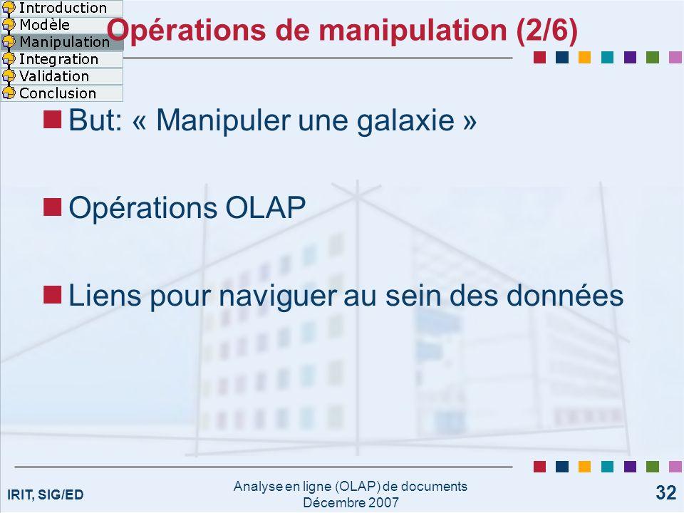Opérations de manipulation (2/6)