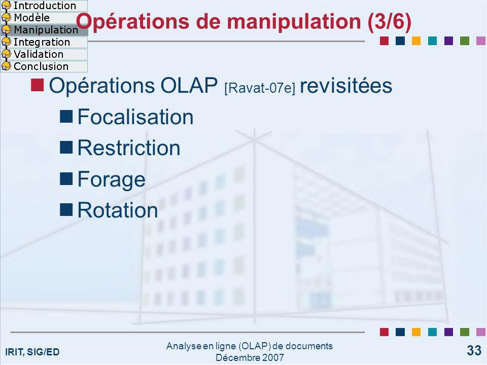 Opérations de manipulation (3/6)