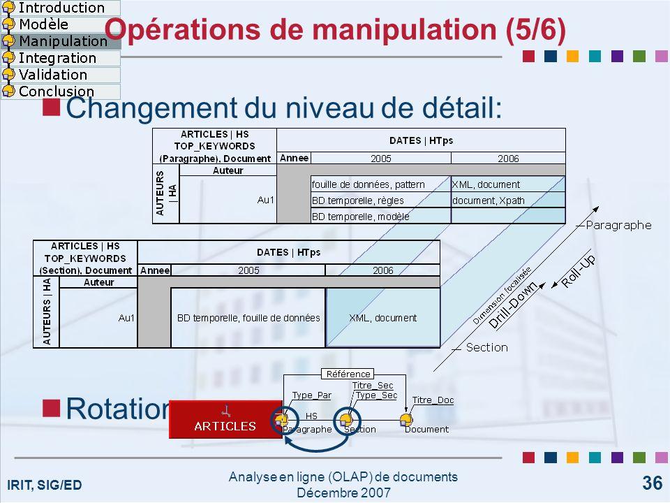 Opérations de manipulation (5/6)