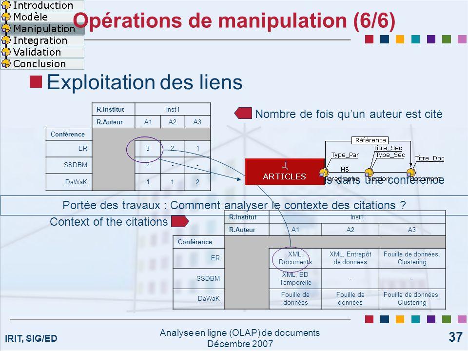 Opérations de manipulation (6/6)