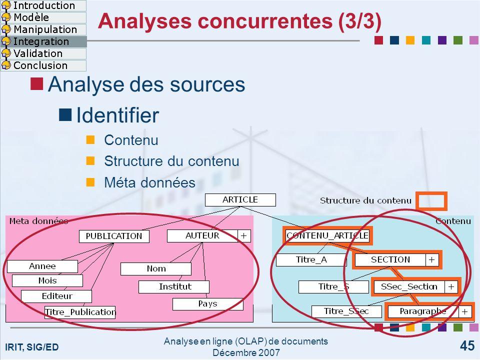 Analyses concurrentes (3/3)