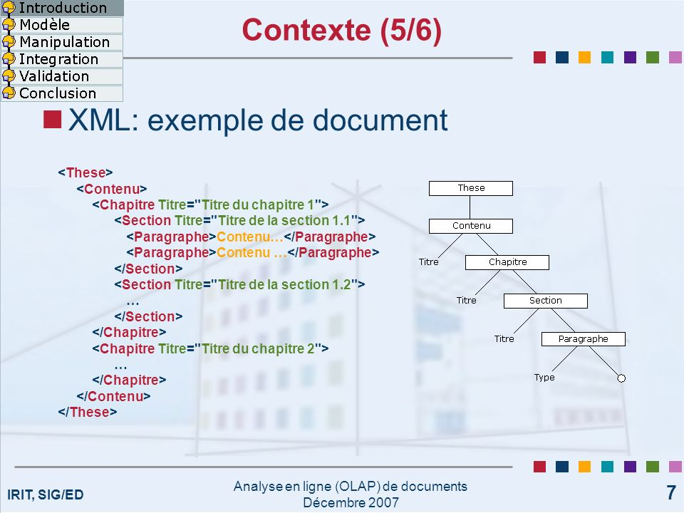 Analyse en ligne (OLAP) de documents