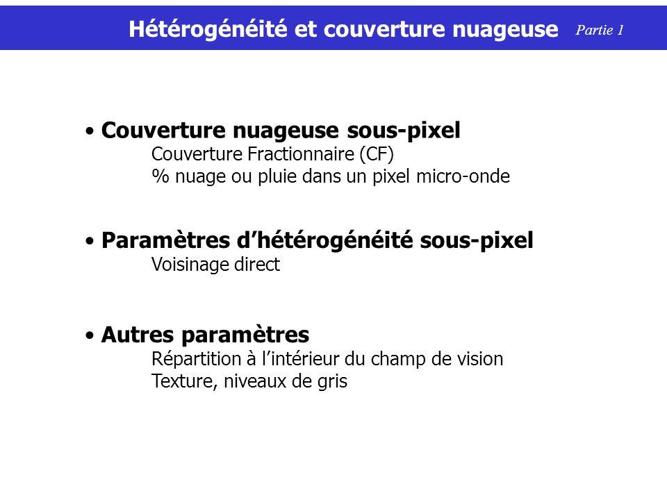 Hétérogénéité et couverture nuageuse