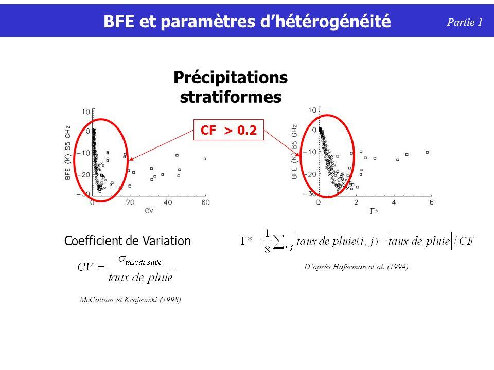 BFE et paramètres d'hétérogénéité