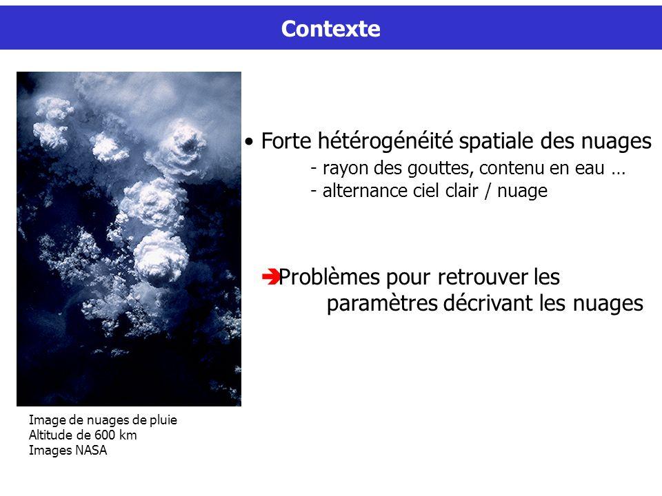 Forte hétérogénéité spatiale des nuages
