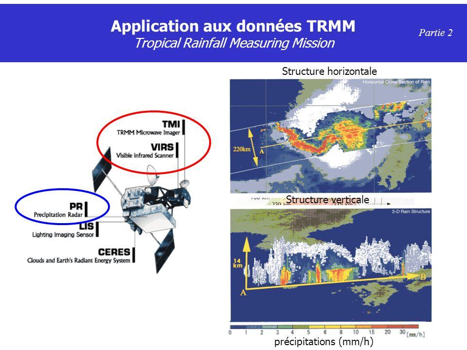 Application aux données TRMM Tropical Rainfall Measuring Mission