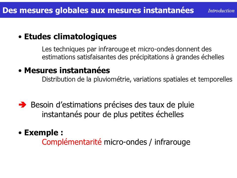 Des mesures globales aux mesures instantanées