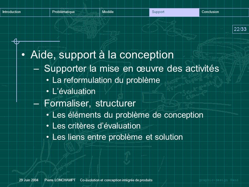 Aide, support à la conception