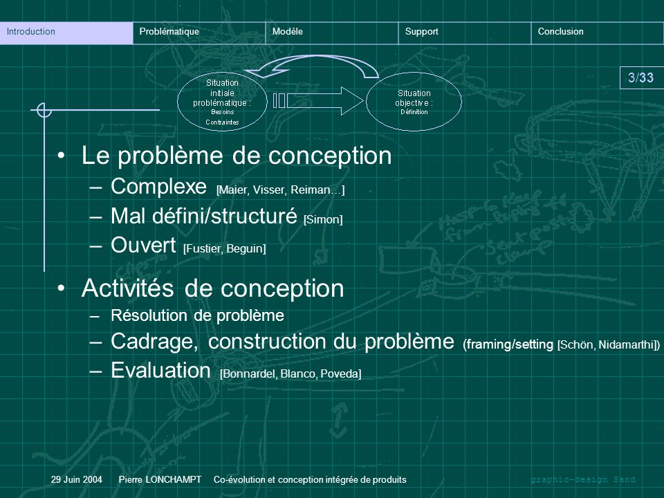 Le problème de conception