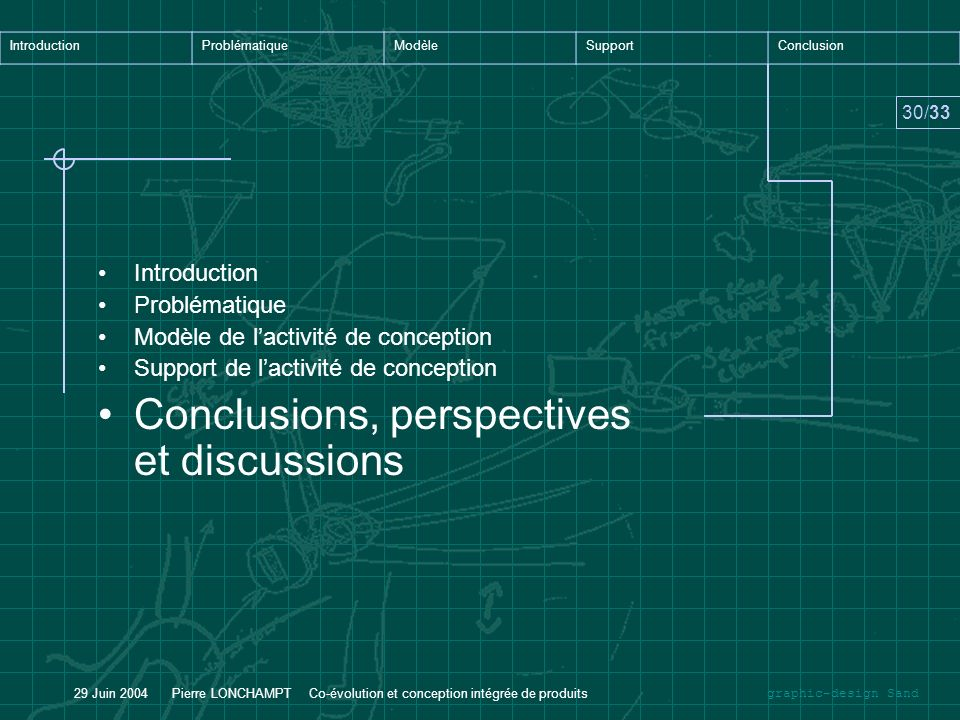 Conclusions, perspectives et discussions