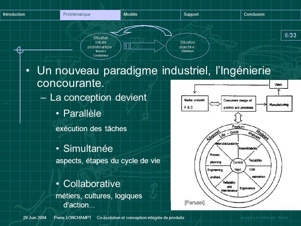 Un nouveau paradigme industriel, l'Ingénierie concourante.