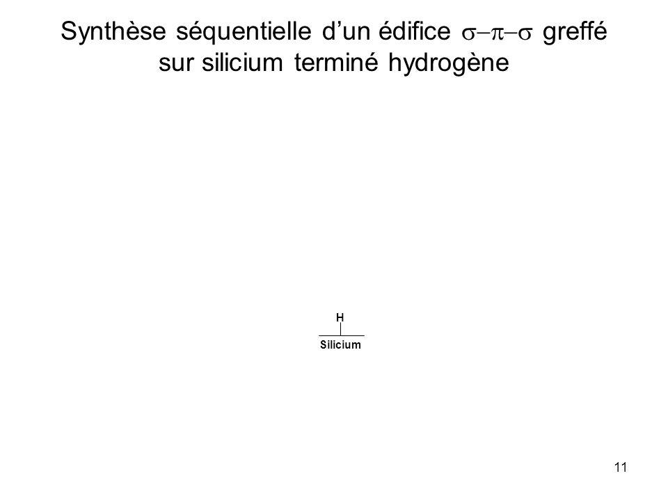 Synthèse séquentielle d'un édifice s-p-s greffé sur silicium terminé hydrogène