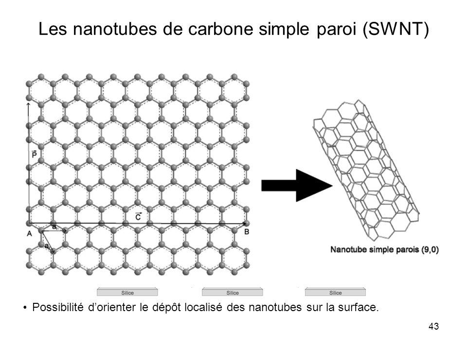 Les nanotubes de carbone simple paroi (SWNT)