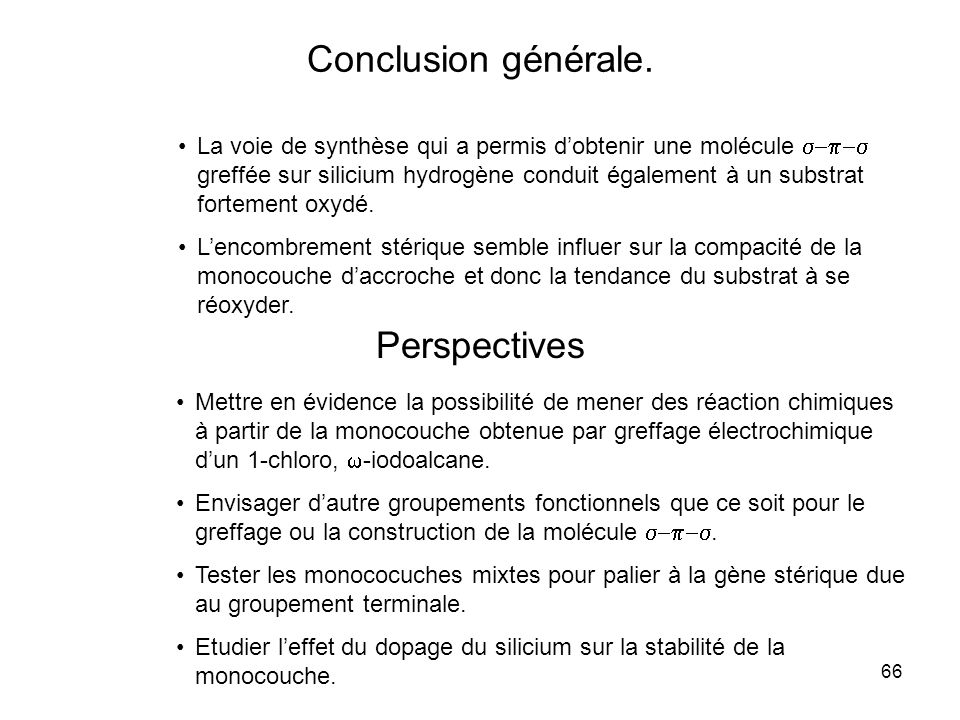 Conclusion générale. Perspectives