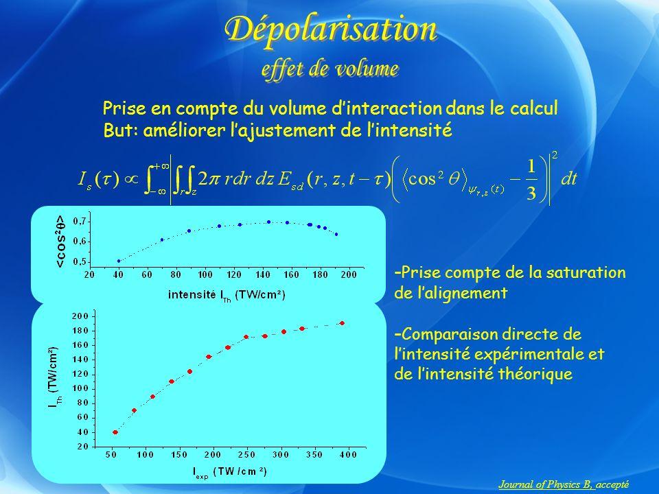 Dépolarisation effet de volume