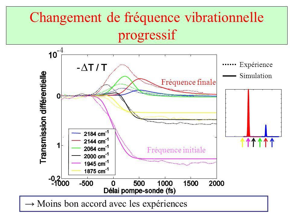 Changement de fréquence vibrationnelle progressif