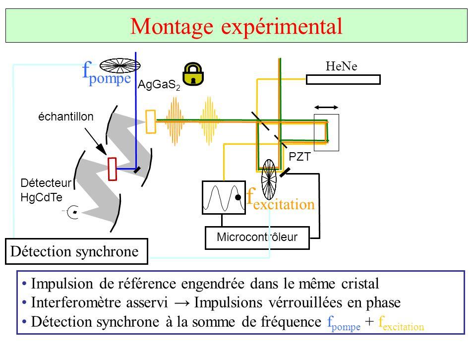 Montage expérimental fpompe fexcitation Détection synchrone