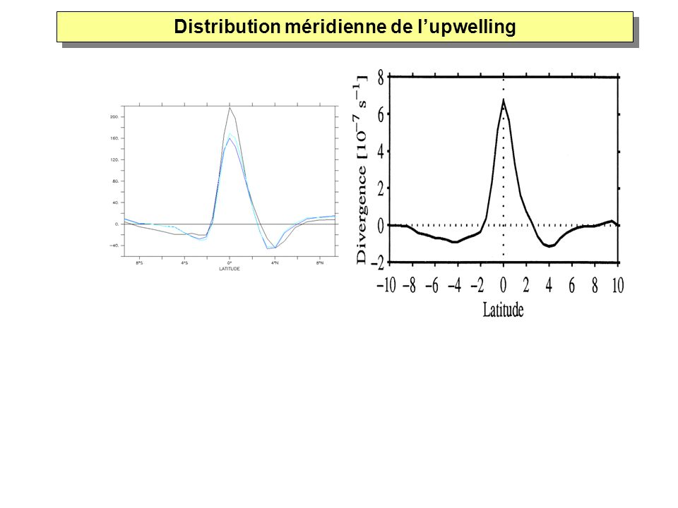 Distribution méridienne de l'upwelling