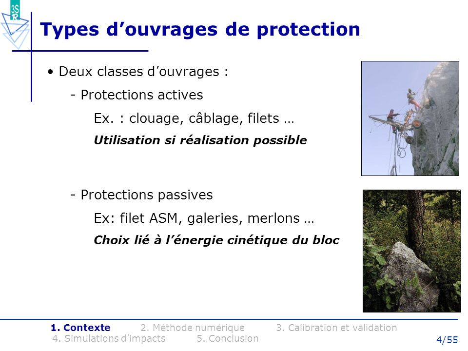 Types d'ouvrages de protection
