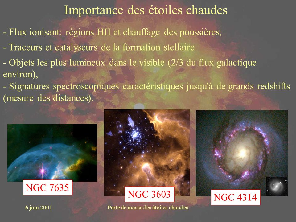 Importance des étoiles chaudes