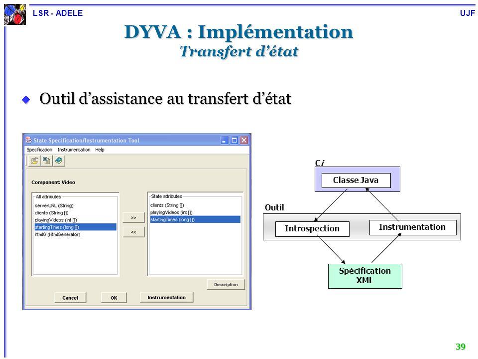 DYVA : Implémentation Transfert d'état