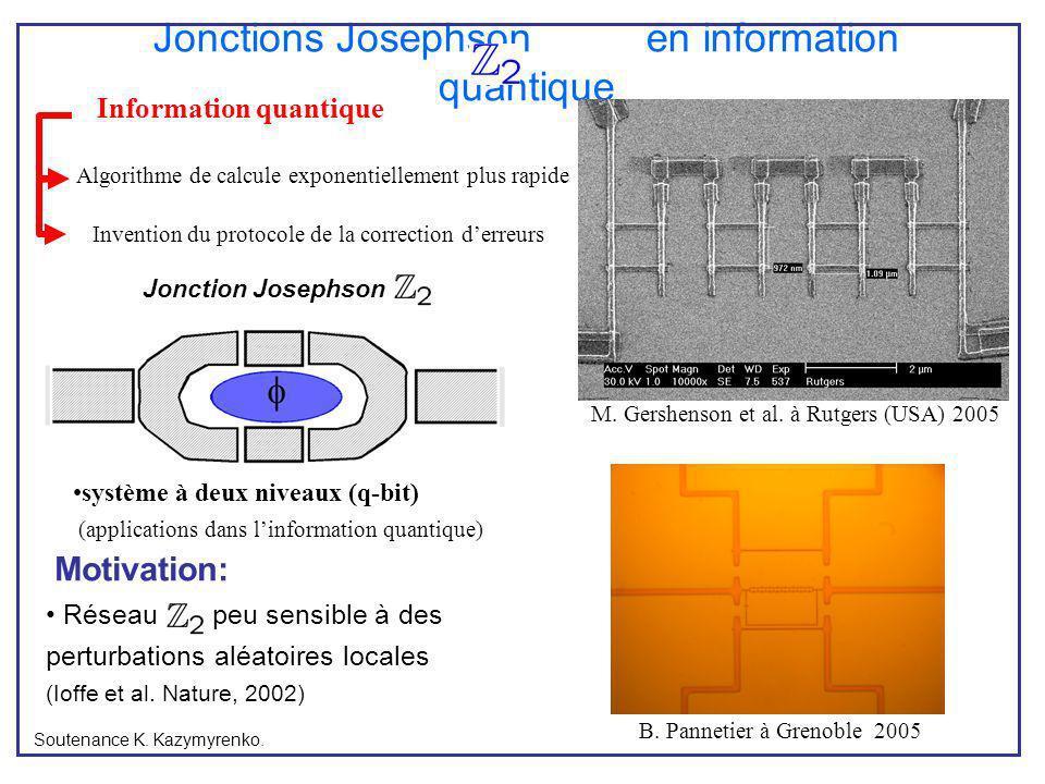 Jonctions Josephson en information quantique