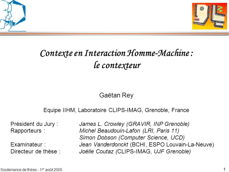 Contexte en Interaction Homme-Machine : le contexteur
