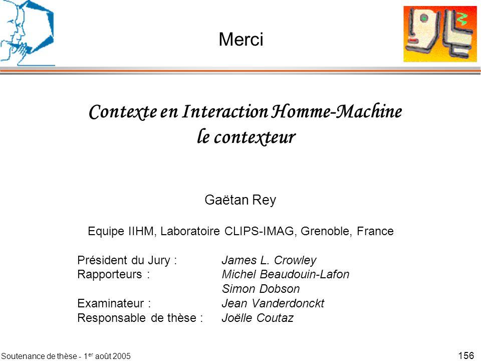 Contexte en Interaction Homme-Machine le contexteur