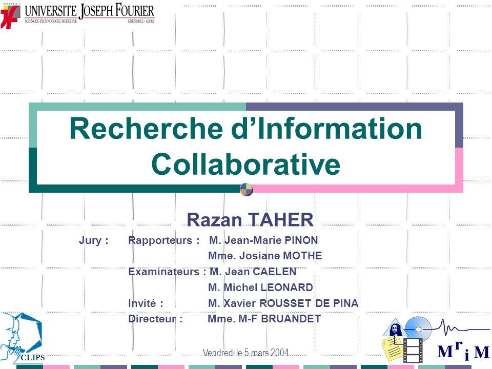 Recherche d'Information Collaborative