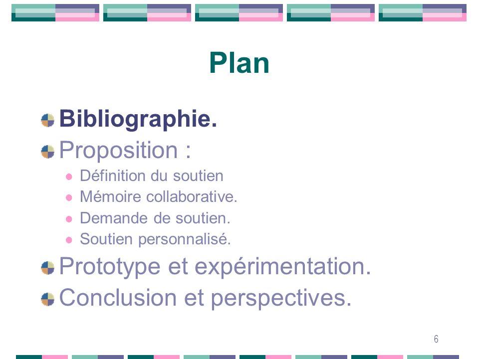 Plan Bibliographie. Proposition : Prototype et expérimentation.