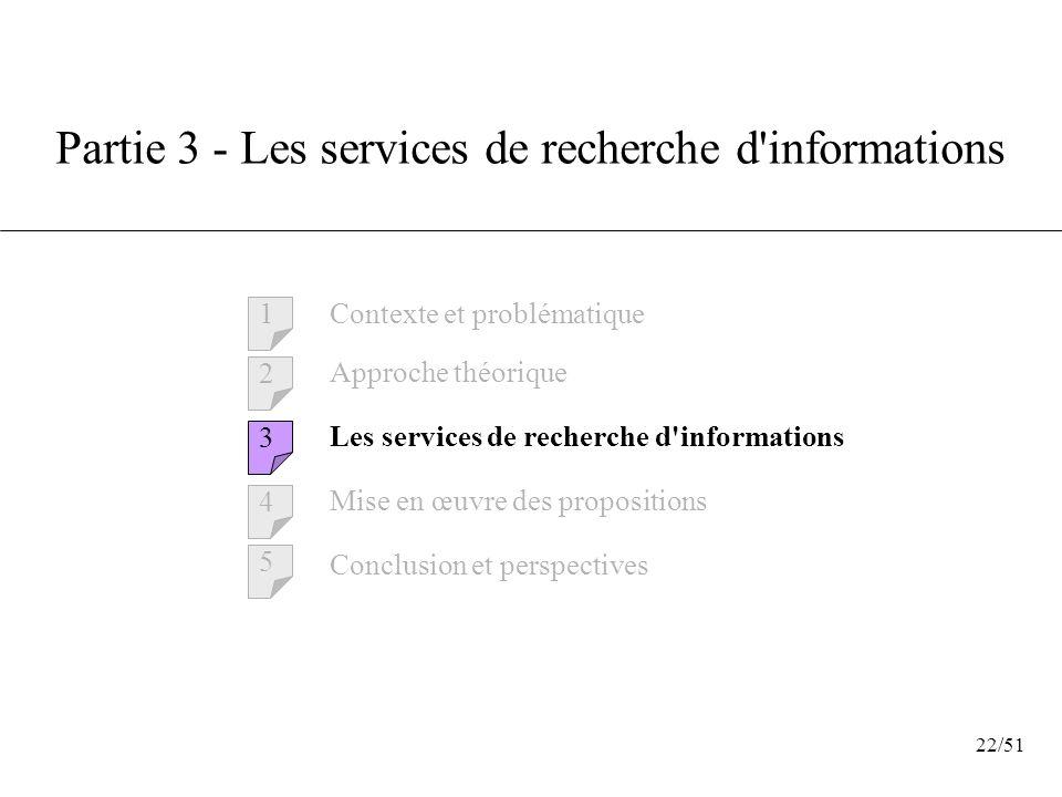 Partie 3 - Les services de recherche d informations