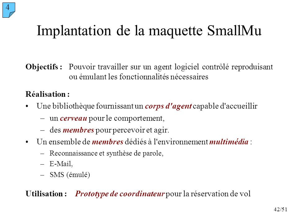 Implantation de la maquette SmallMu