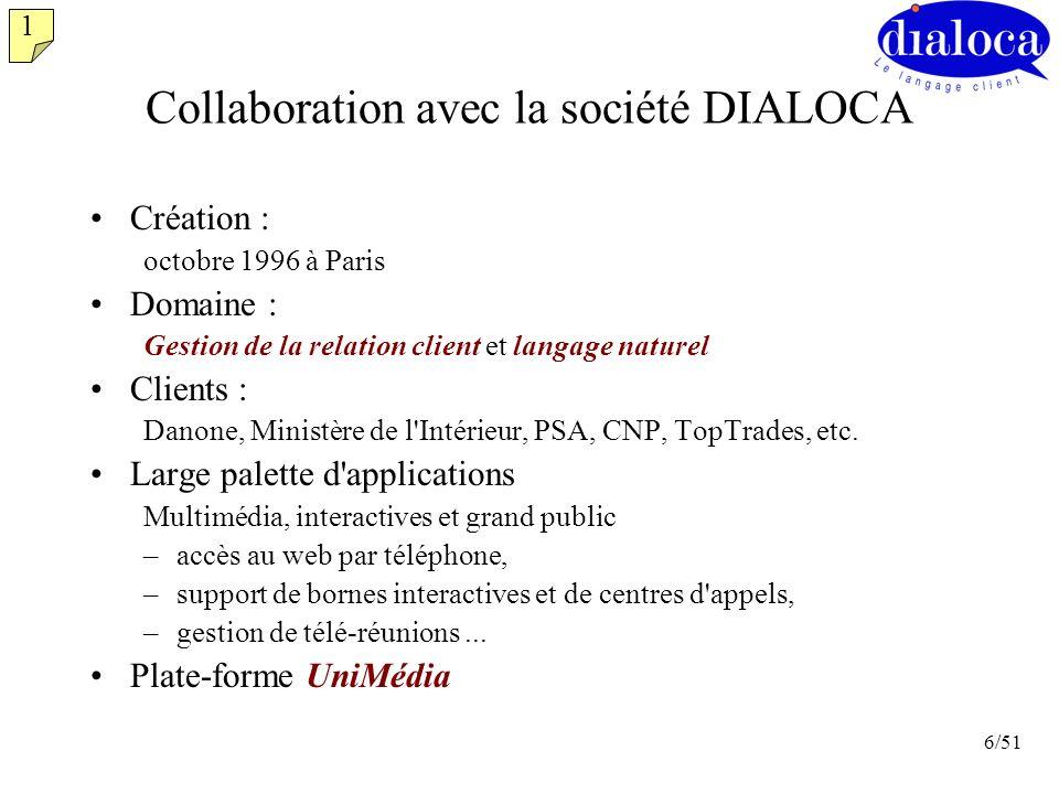 Collaboration avec la société DIALOCA