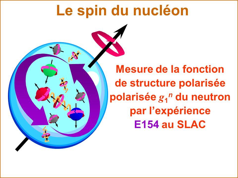Le spin du nucléon Mesure de la fonction de structure polarisée