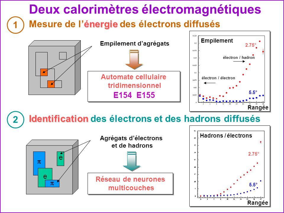 Deux calorimètres électromagnétiques