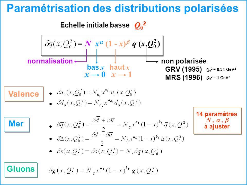 Paramétrisation des distributions polarisées