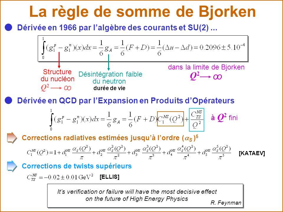 La règle de somme de Bjorken