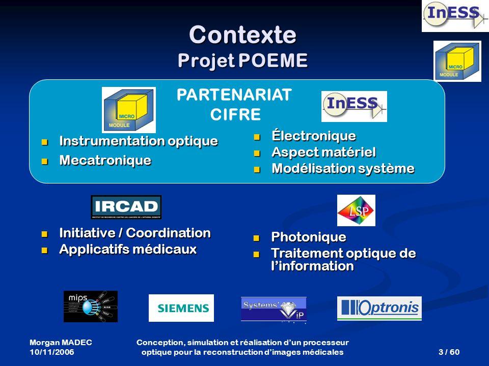 Contexte Projet POEME PARTENARIAT CIFRE Électronique