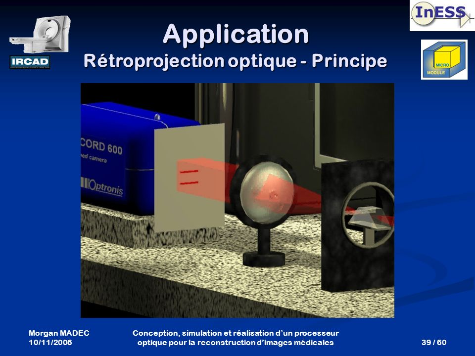 Application Rétroprojection optique - Principe