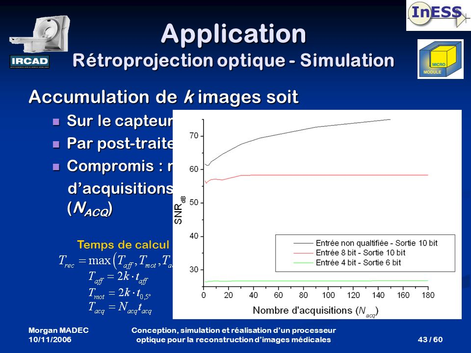 Application Rétroprojection optique - Simulation