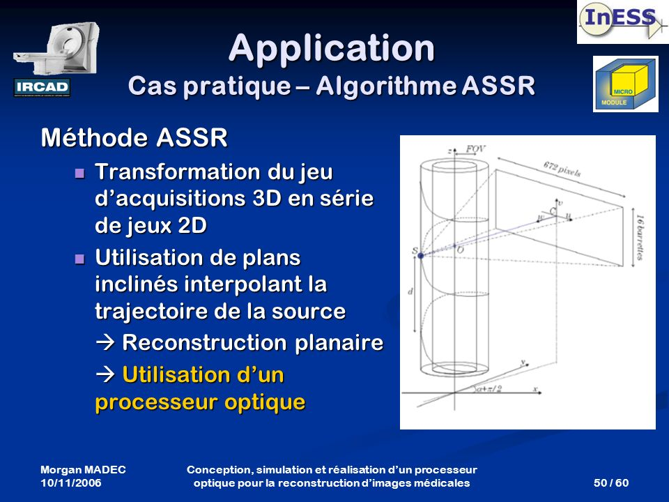 Application Cas pratique – Algorithme ASSR