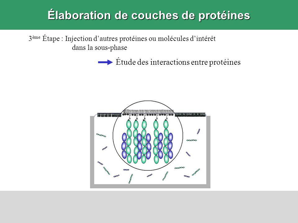 Élaboration de couches de protéines